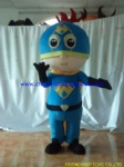 Customized superman boy mascot costume