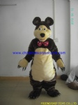 Masha the bear plush mascot costume