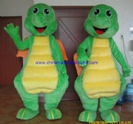 Green dragon party mascot costume