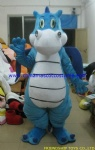 Blue dragon party mascot costume