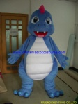 Blue dragon moving mascot costume