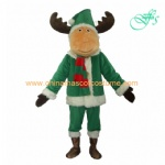 Santa Deer animal mascot costume