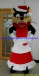Wolf with Christmas dress plush costume