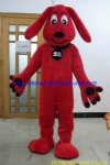 Customized red dog mascot costume