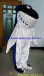 Shark moving plush mascot costume