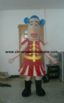 Red woman mascot costume