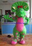 Barney and friends character mascot costume