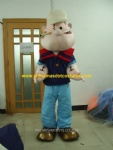 Popeye cartoon mascot costume