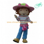 Strawberry shortcake character mascot costume