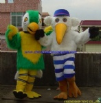 Colorful bird moving mascot costume
