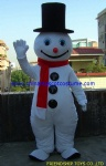 Snowman cartoon mascot costume