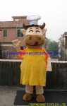 Chief cow character mascot costume