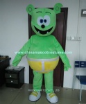 Gummy bear plush mascot costume