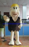 Savage man, Barney Rubble mascot costume