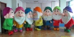 Seven Dwarfs cartoon mascot costume